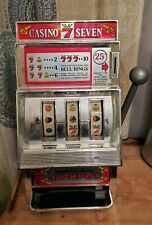 Vintage WACO Casino Seven 25 cent Or Free Slot Gambling Machine Toy