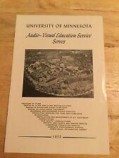 University Of Minnesota 1953-Audio Visual Education Service