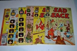 Harvey Comics Silver /Bronze Age Sad Sack Lot