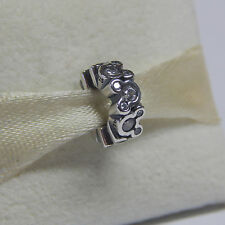 New Authentic Pandora Disney Mickey All Around Spacer 791456CZ Box Included