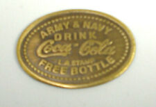 Coca-Cola Army & Navy Drink Coke Free Bottle Good Luck Token Old Western