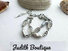 BRIGHTON Double Chain Pearl Silver BRACELET
