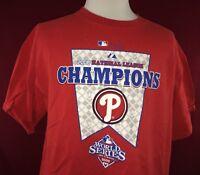 Philadelphia Phillies 2008 National League Champions Majestic Red T-Shirt XL