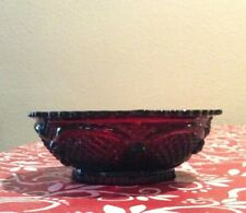 11  NIB Avon Cape Cod Ruby Red Glass Soup Cereal Bowls $5 EACH