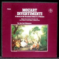 Mozart Divertimenti New York Philomusica Robert Johnson SVBX 3 x LP NM/M & BX NM