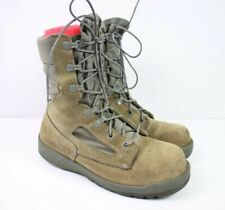 Womens BELLEVILLE 600 ST Work Military Boots Sz 6 Safety Steel Toe Green Vibram