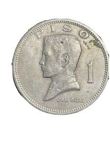 Philippines 1974 Jose Rizal 1 piso coin - Item: Box A