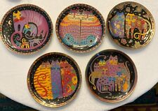 5 Franklin Mint Laurel Burch Feline Collector Plates Limited Edition