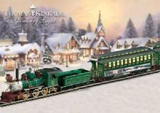 Christmas Express Train ON30 Locomotive+Tender 8 Cars-Signal-Power-Track
