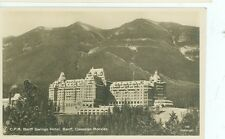 BANFF SPRINGS HOTEL CANADIAN ROCKIES CPR 1941 VINTAGE  REAL PHOTO (ALB12)