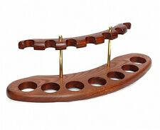 "Tobacco pipe Wooden Display Stand Rack Hold ""Arch 7"" For 7 Smoking Pipes"