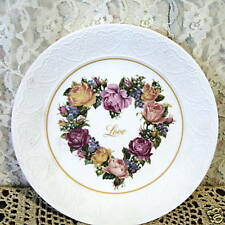 Bouquet Of Love Roses Heart Plate 1987 Avon