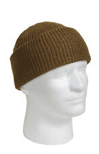 Wool Watch Cap - One Size Fits Most - Made In The Usa - Coyote Brown