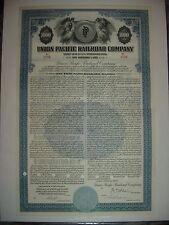 Union Pacific Railroad Bond Stock Certificate UP