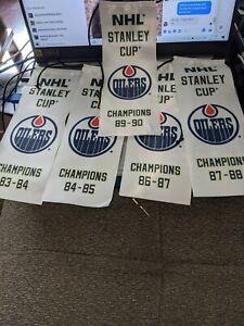 Edmonton Oilers Stanley Cup Championship Banner Set