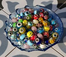Set of 3/4 pieces 925 Silver Core Murano Glass Beads, lots of colors & design UK