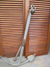 """Antique Maritime Iron Ship Anchor 29lb. 35"""" tall"""