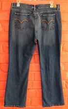 Levi's 515 Boot Cut Stretch Jeans Size 18 37 x 31 Red Tab Embellished Pockets