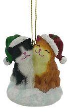 The San Francisco Music Box Company Cute Christmas Cats Figurine Ornament