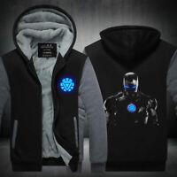 Iron Man Hoodie Sweatshirt Zipper Fleece Warm Coat Jacket Top Luminous Edition