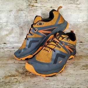 Merrel MQM Flex 2 GTX goretex men's hiking shoe grey orange UK 13 - Used