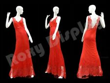 Female Fiberglass Glossy White Mannequin Eye Catching Abstract Style #Md-Xd17W