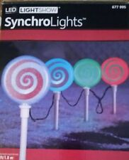 4 Gemmy LED LIGHTSHOW LOLLIPOP Color Changing Outdoor Christmas Pathway Markers