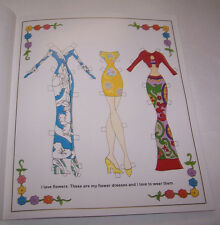 Mod Paper Dolls And Their Funky Clothes Lauri Robinson Booklet B. Shackman 2000