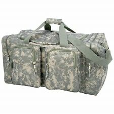 """New Large 25"""" Heavy Duty CAMO Tote Bag Water Resistant Gym Duffle Shoulder Gear"""