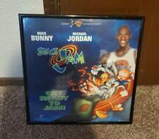 New Sealed Space Jam Laserdisc Movie, Michael Jordan Bugs Bunny - Framed