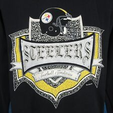 vintage 90s PITTSBURGH STEELERS SWEATSHIRT T-Shirt M football sweater hip hop