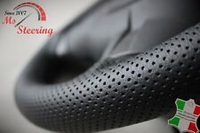 FOR RANGE ROVER SPORT PERFORATED LEATHER STEERING WHEEL COVER WHITE DOUBLE STICH