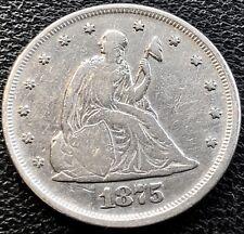 1875 Twenty Cent Piece 20c P Philadelphia RARE Silver High Grade #13551