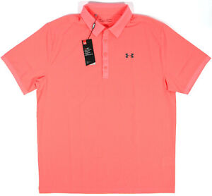 UNDER ARMOUR Golf Playoff Vented Polo Shirt- XL-NEW-$65 HeatGear lightweight tee