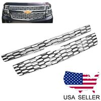 For 2015-2020 Chevy Tahoe Suburban LS / LT CHROME Snap Over Grille Overlay Cover