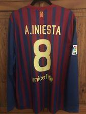 2011/12 Barcelona Home Jersey #8 INIESTA XL Longsleeve NIKE