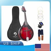 Acoustic Electric Mandolin 8 String A Style Sunset Red Mandolin w/tuner