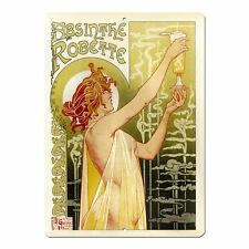 "Absinthe Robette Vintage French Advert Mini 5"" x 7"" Metal Sign"