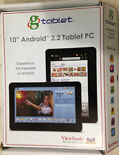 "ViewSonic gTablet 10.1"" Android WiFi Bluetooth 16GB Internet Tablet 1080P FreeSH"