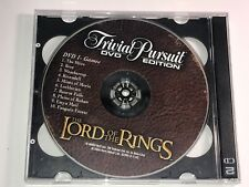 Lord of the Rings Trilogy Trivial Pursuit DVDs 1 and 2