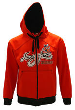 Naranjeros de Hermosillo Full Zipper Warm Sweater Orange/Black