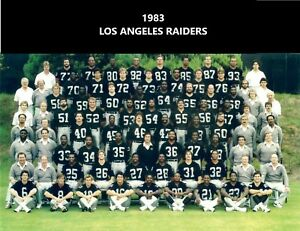 1983 LOS ANGELES RAIDERS LA 8X10 TEAM PHOTO FOOTBALL PICTURE NFL WESTERN CHAMPS