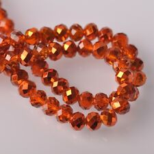 Wholesale Crystal Glass Faceted Rondelle Loose Spacer Beads 4mm 6mm 8mm 10mm