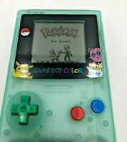 Nintendo Game Boy Color Pokemon Handheld System Rare Glow-in-dark green CGB-001