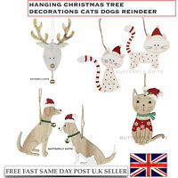Wooden Christmas Tree Hangers Hanging Decorations DIY Xmas Pendants Gift Party
