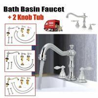 "8"" 2 Handle Widespread Bathroom Basin Faucet Vanity Sink Tub Waterfall Mixer Tap"