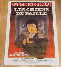 LES CHIENS DE PAILLE Affiche cinéma 120X160 SAM PECKINPAH, DUSTIN HOFMAN