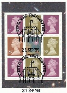 (84533) GB Used World Changers Booklet Pane 1999 ON PIECE