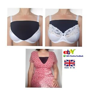 Modesty Panels - Cleavage cover - Faux camisole - Bra - One size - Handmade UK