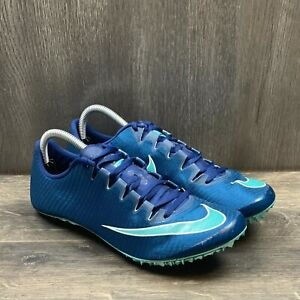 Nike Zoom SUPERFLY ELITE Racing Spikes Men's Sz 9.5 Women Sz 11 BLUE  835996 400